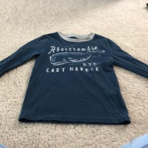 Abercrombie boys long sleeve blue and grey shirt